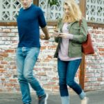 Natalie Dormer in a Khaki Jacket Was Seen on Lunch Date with David Oakes in Los Angeles