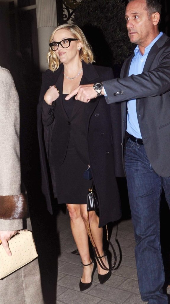 Reese Witherspoon in a Black Coat