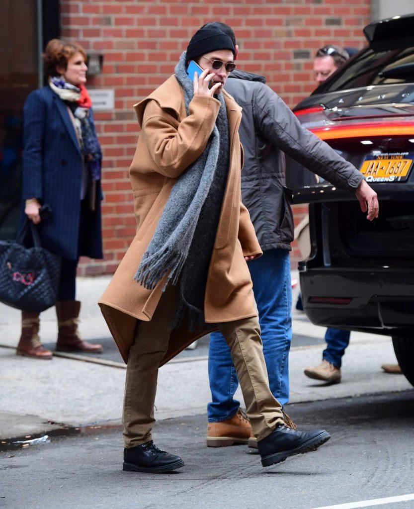Robert Pattinson in a Black Knit Hat