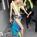 Stella Maxwell Arrives to Drake's Halloween Party at Delilah in West Hollywood