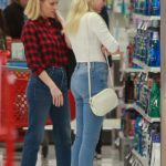 Ava Phillippe in a White Sneakers Does a Christmas Shopping Out with Reese Witherspoon at Target in Westwood