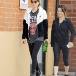Dakota Johnson in a Black Leggings Was Seen Out with a Friend in LA