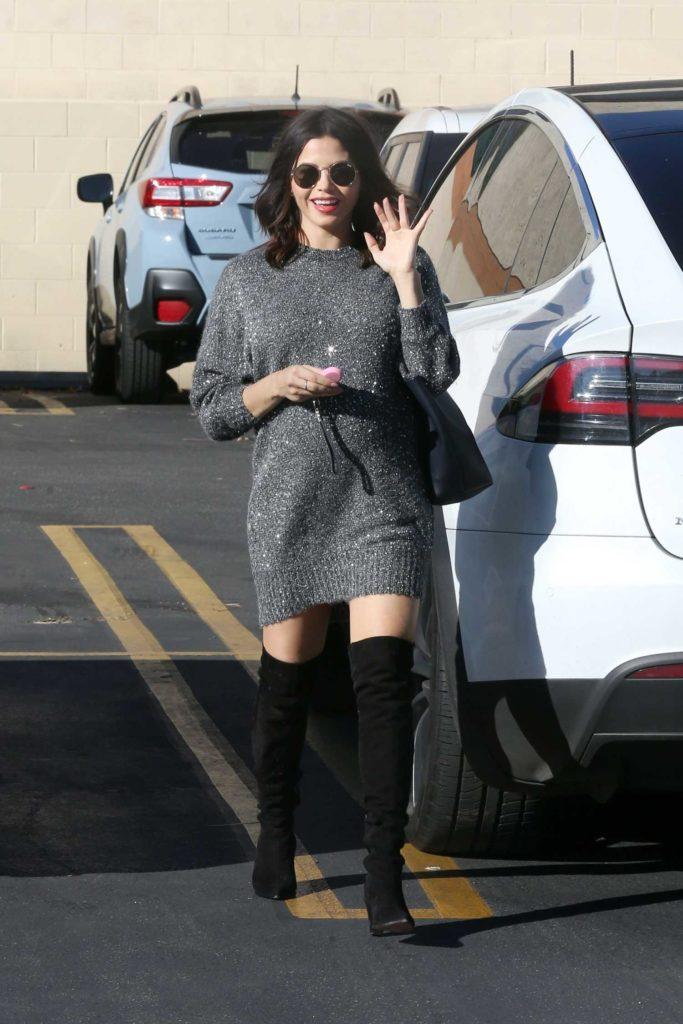 Jenna Dewan in a Silver Dress