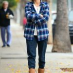 Julianne Hough in a Plaid Shirt Was Seen Out in Studio City