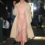 Lea Michele in a Beige Coat Was Seen Out in New York