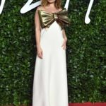 Lily James Attends 2019 Fashion Awards at Royal Albert Hall in London