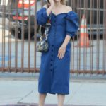 Natalie Portman in a Blue Dress Was Seen Out in Los Feliz