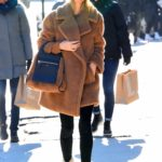 Nicky Hilton in a Black Knit Hat Was Seen Out in New York