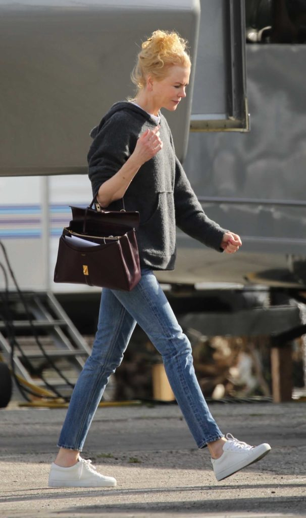 Nicole Kidman in a Black Hoody