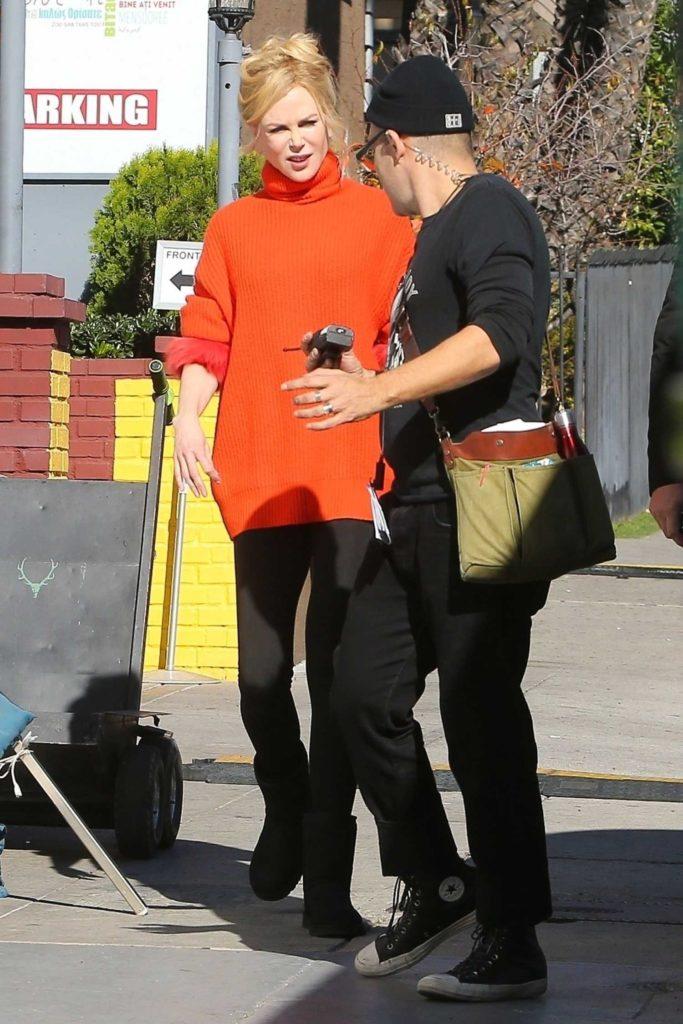 Nicole Kidman in an Orange Turtleneck