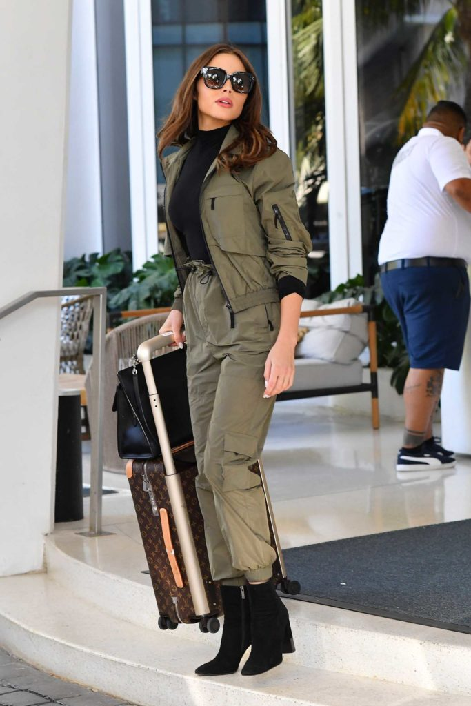 Olivia Culpo in a Green Suit