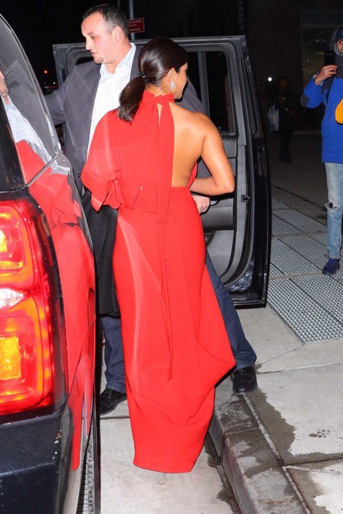 Priyanka Chopra in a Red Dress
