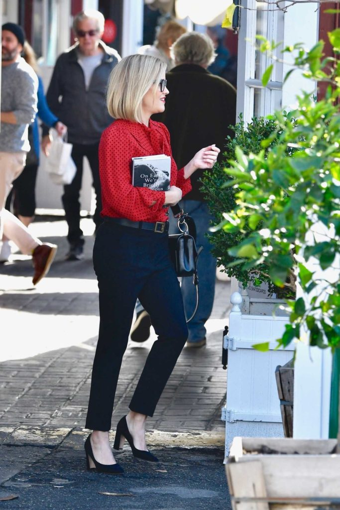 Reese Witherspoon in a Red Polka Dot Blouse
