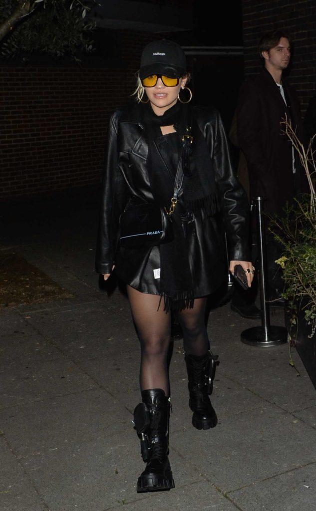 Rita Ora in a Black Cap