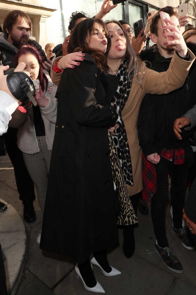Selena Gomez in a Black Coat