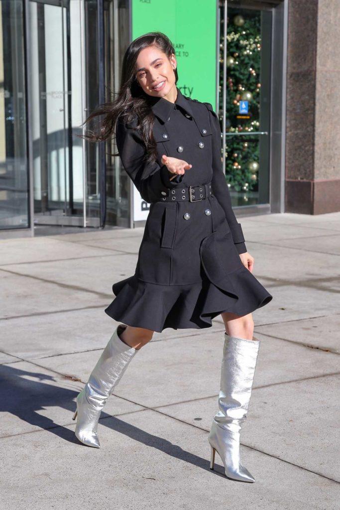 Sofia Carson in a Silver Boots