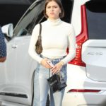 Amelia Gray Hamlin in a White Turtleneck Goes Shopping at XIV Karats in Hollywood