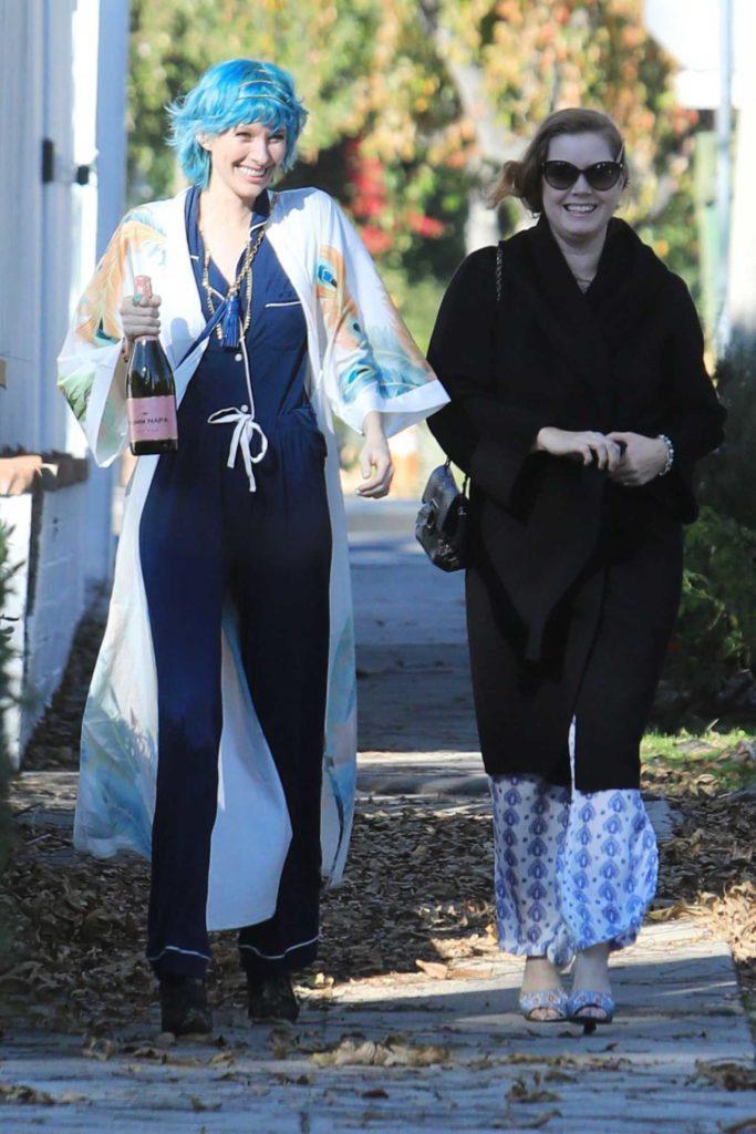 Amy Adams in a Black Coat