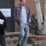 Ben Affleck in a Plaid Shirt Was Seen Out in Santa Monica