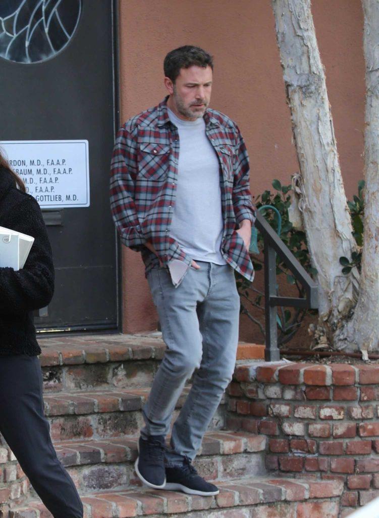 Ben Affleck in a Plaid Shirt