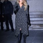 Blake Lively in a Black Floral Dress Was Seen Out in New York