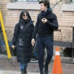Camila Cabello in a Black Puffer Coat Was Seen Out with Shawn Mendes in Toronto