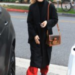 Chloe Moretz in a Black Coat Goes Grocery Shopping in Beverly Hills