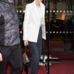 Gigi Hadid in a White Blazer Was Seen Out in Paris