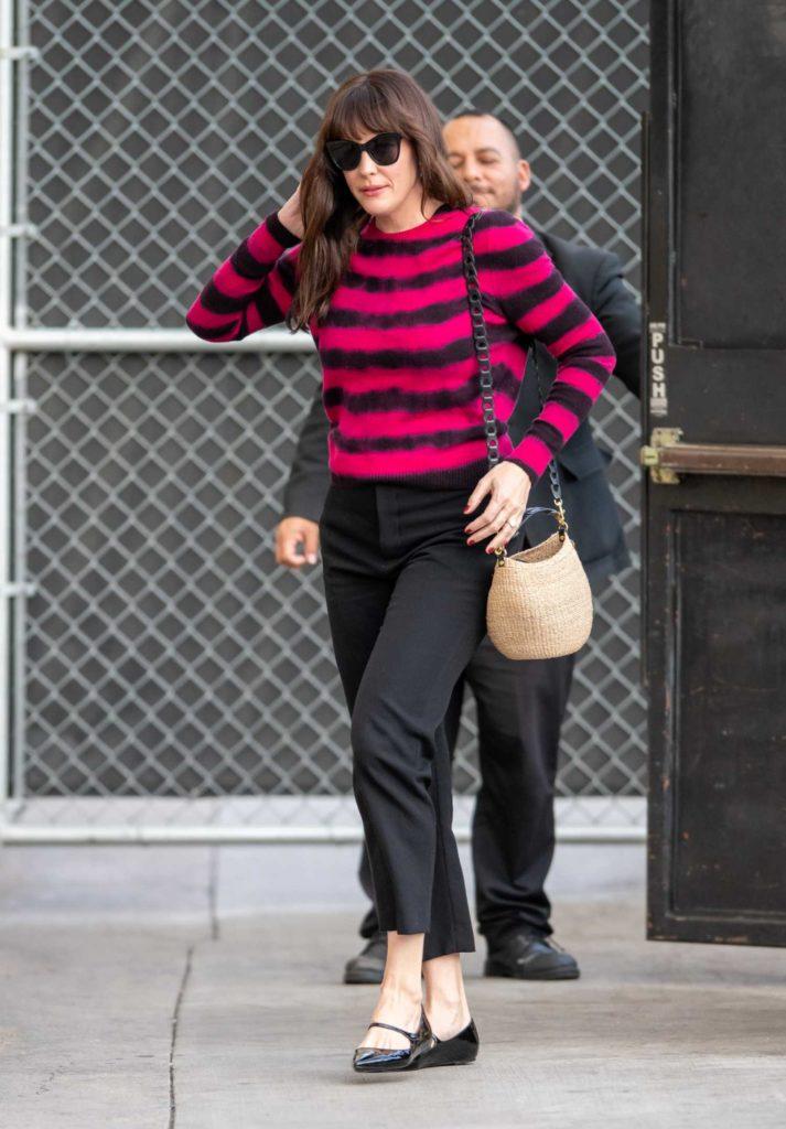 Liv Tyler in a Striped Sweater