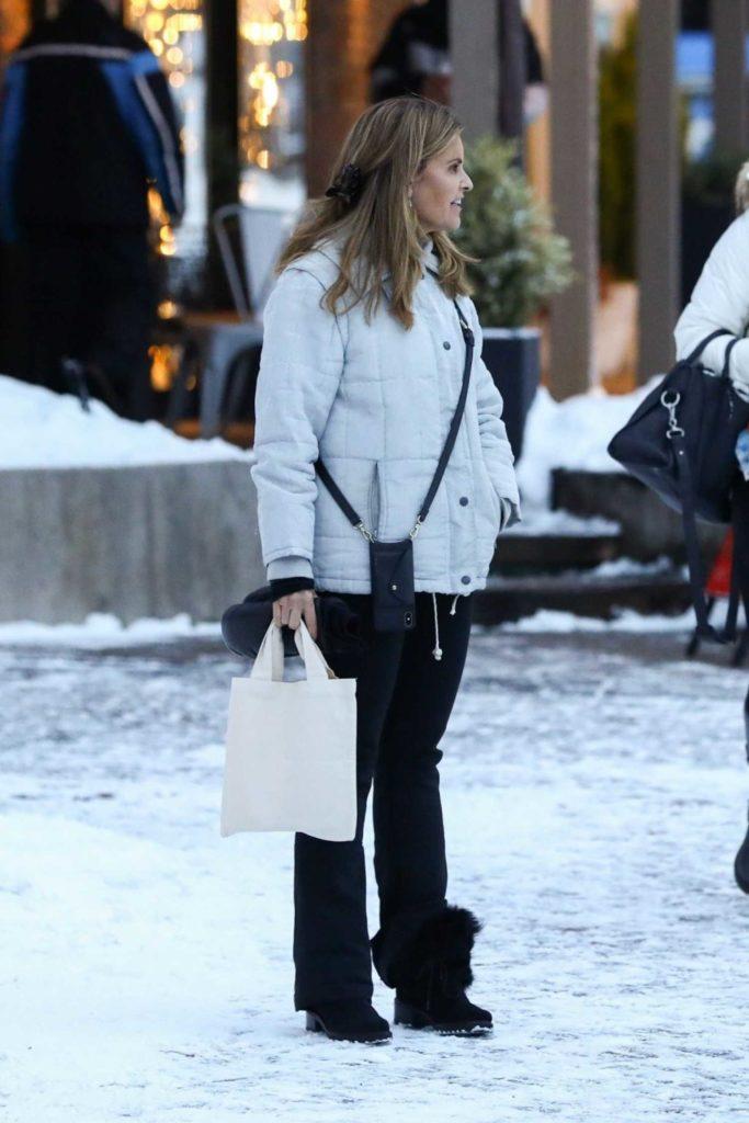 Maria Shriver in a Gray Jacket