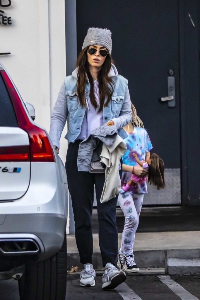 Megan Fox in a Gray Knit Hat