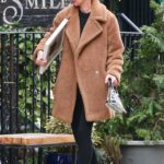 Nicky Hilton in a Beige Coat Was Seen Out in Soho, New York