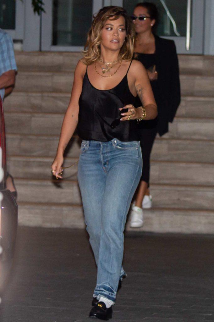 Rita Ora in a Black Blouse