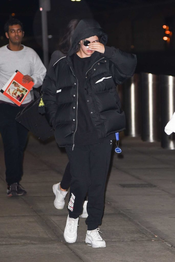 Selena Gomez in a Black Puffer Jacket