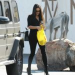 Shay Mitchell in a Black Blouse Was Seen Out in Los Angeles