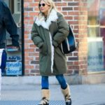 Sienna Miller in a Green Puffer Coat Was Seen Out in New York