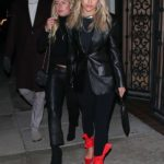 Sofia Richie in a Black Leather Blazer Leaves Matsuhisa Restaurant in Beverly Hills