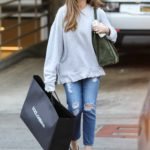 Sofia Vergara in a Blue Ripped Jeans Was Spotted Out in LA