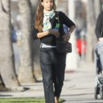 Zoe Saldana in a Black Outfit Takes Her Son to Karate Class in LA