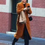 Zoey Deutch in a Bathrobe Style Coat Was Seen Out in New York City