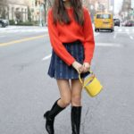 Charlotte D'Alessio in a Red Sweater Was Seen Out in New York