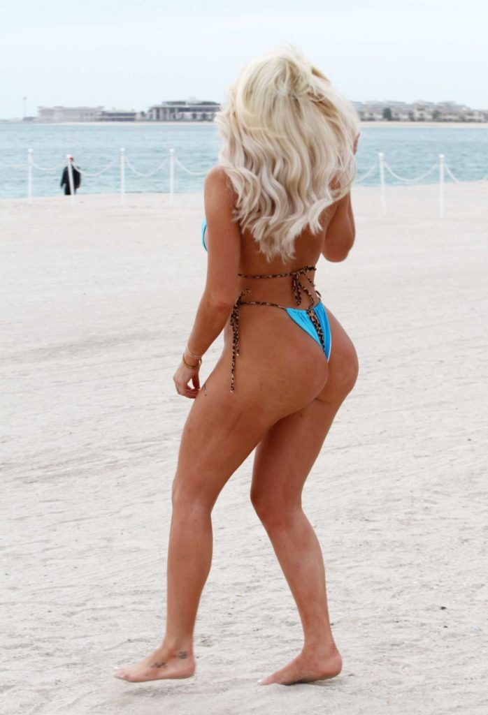 Chloe Ferry in a Blue Bikini