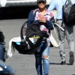 Christina Milian in a Red Sneakers Was Seen Out in Los Angeles