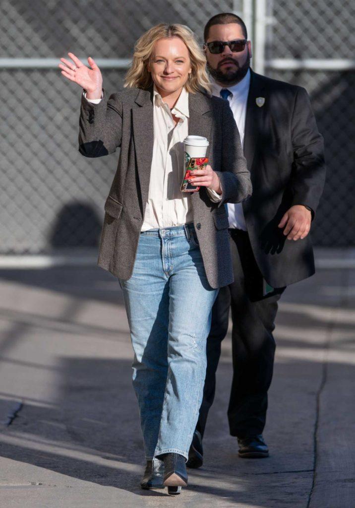 Elisabeth Moss in a Blue Jeans