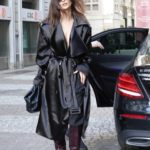 Emily Ratajkowski in a Black Trench Coat Was Seen Out in Milan
