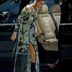 Gigi Hadid in a Green Dress Was Seen Out in Milan