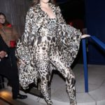 Hailee Steinfeld in a Leopard Print Suit Arrives at the Standard Hotel in London
