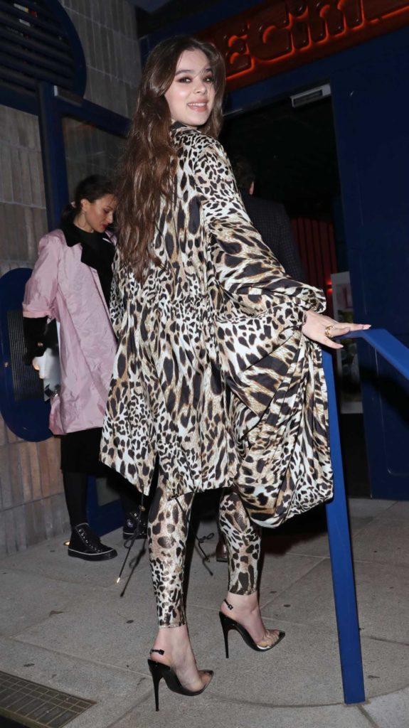 Hailee Steinfeld in a Leopard Print Suit