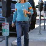 Helen Hunt in a Blue Sweater Was Seen Out in Brentwood