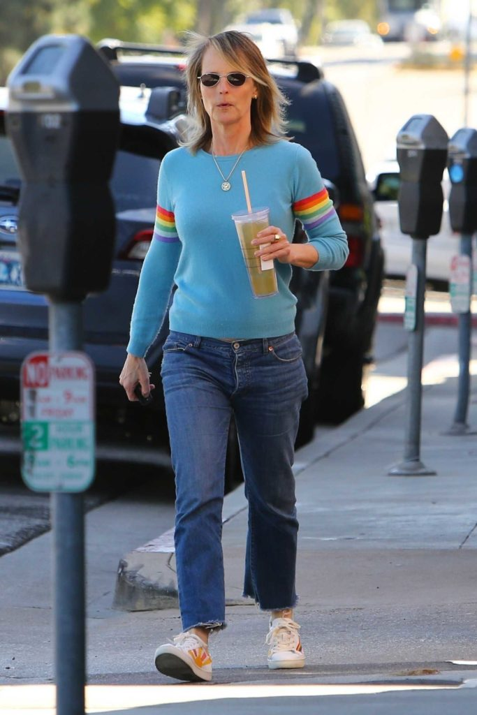 Helen Hunt in a Blue Sweater